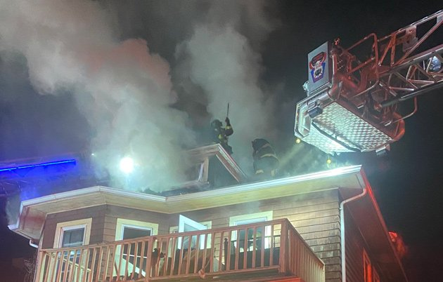 Firefighters at 17 Murray Hill Road fire
