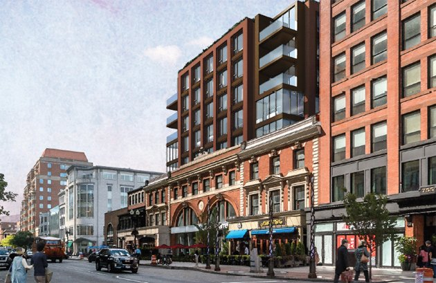 Proposed expanded Boylston Street buildings