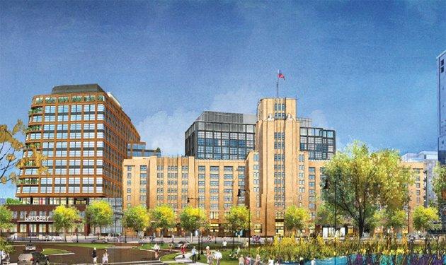 Expanded Landmark Center rendering