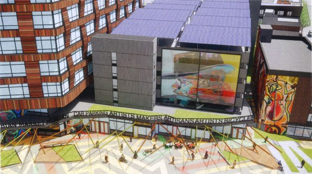 Proposed rendering of Nubian Ascend buildings