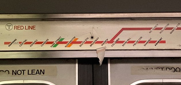 Old Red Line map