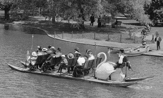 Swan Boat in early part of the 20th century
