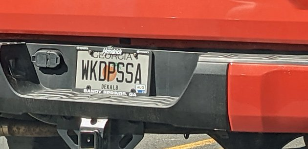 License plate reading WKDPSSA
