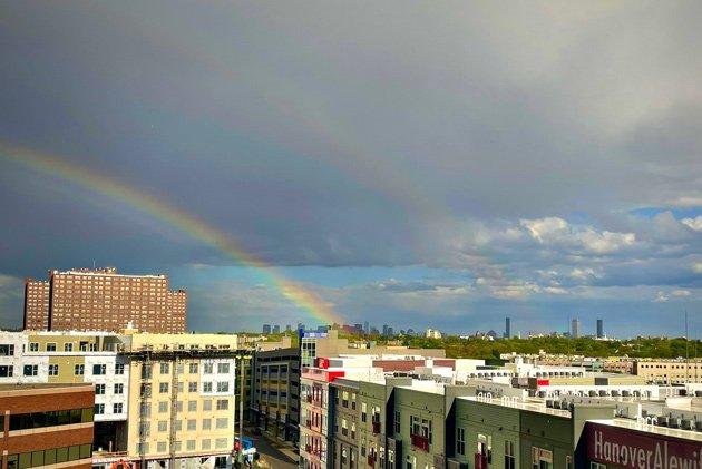 Double rainbow over Cambridge