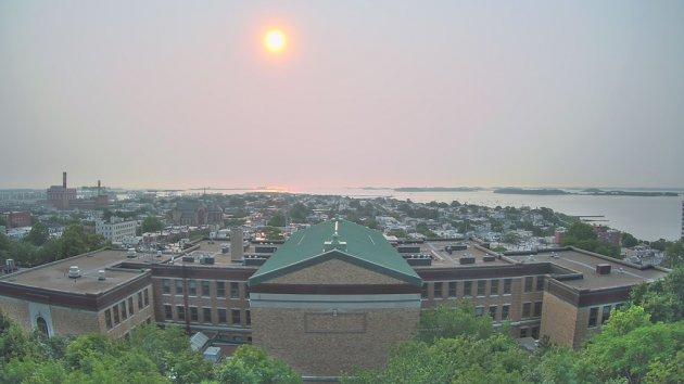 Haze over South Boston