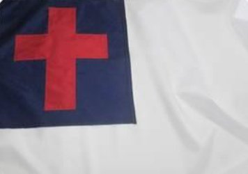 Christian flag in question