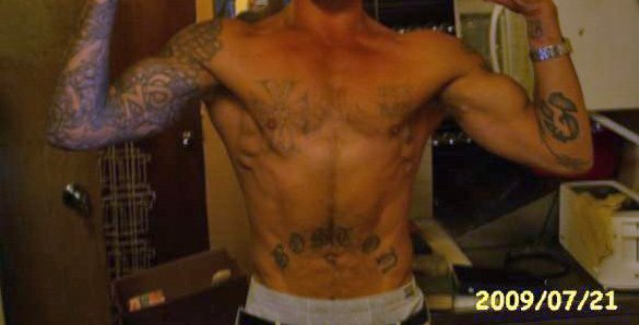 Kuykendall and some of his tattoos