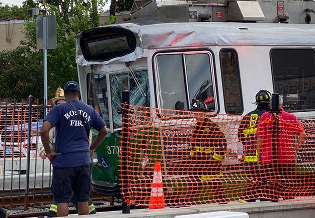 Crashed trolley