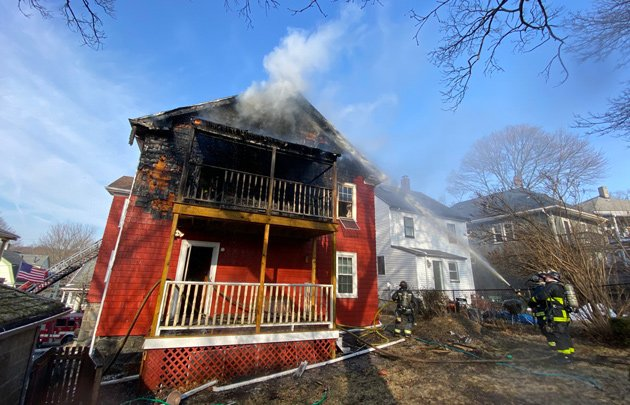 Fire on Wachusett Street