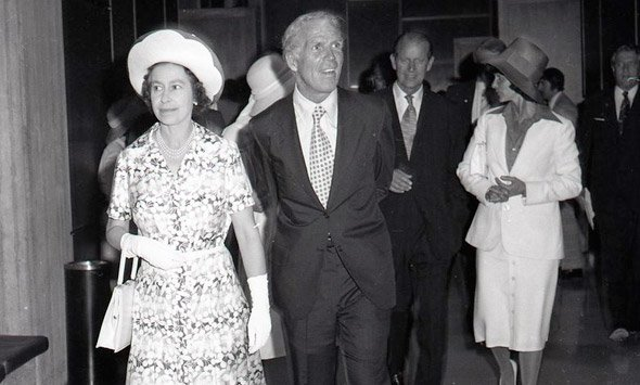 Queen Elizabeth, Kevin White and Prince Philip