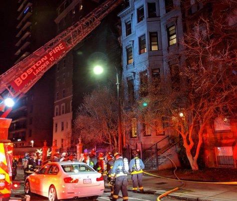 168 Beacon St. fire scene