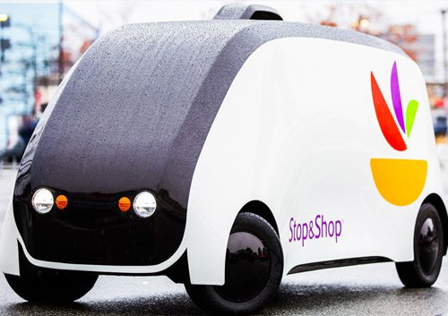 Stop & Shop robot delivery car