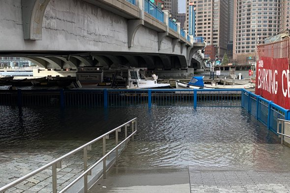 Fort Point Channel flooding