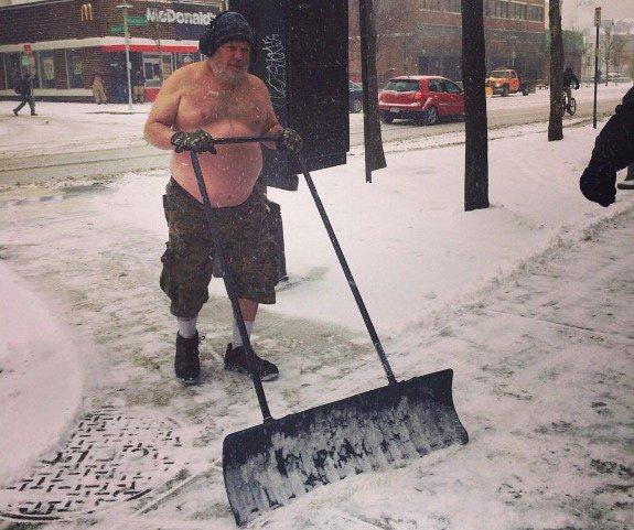 Hard-core shoveler