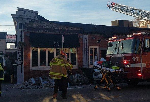 Common Ground facade collapse in Allston