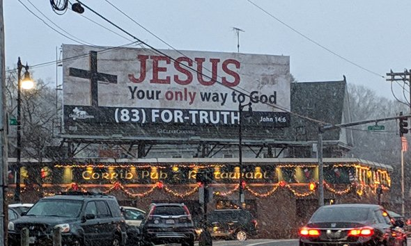 Jesus, what a billboard