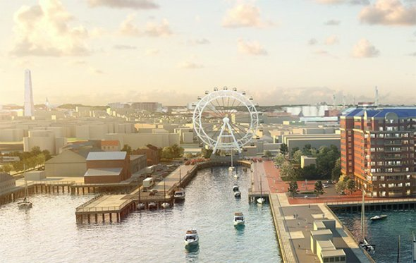 Proposed Ferris wheel at the Charlestown Navy Yard