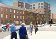 Architect's rendering of proposed Maverick Square building