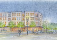 Architect's rendering of 2 Ford St.