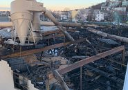 Aftermath of the casket-company fire in East Boston