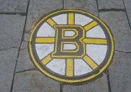Bruins manhole cover in Boston