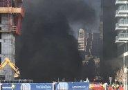 Fan Pier fire smoke