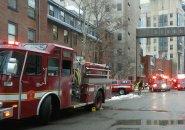 Firetrucks at Brigham and Women's Hospital
