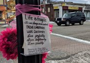 Memorial for woman killed on Centre Street in West Roxbury