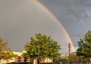 Rainbow over Dedham Mall