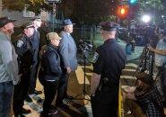 Boston Police Commissioner William Gross at the scene