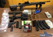 Guns, ammunition and drugs