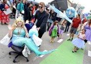 Mermaids on parade in Cambridge