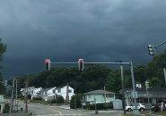 Clouds over VFW Parkway in West Roxbury