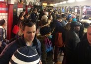 Crowded Red Line station