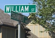 Sign for Shawnut Avenue