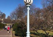 Defaced light pole in the Public Garden