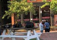 City Hall Plaza stabbing scene