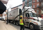 Truck takes out tree in the North End