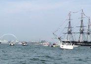 USS Constitution in Boston Harbor