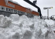 Lot of white stuff at Green on the Orange Line