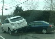 Two cars collide in Peabody