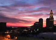 Boston sunrise on Dec. 31