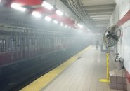 Smoke in Kendall Square station