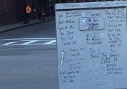 Graffiti on a utility box in downtown Boston