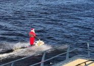 Santa Claus on the Charles River