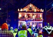 Illuminated house in Somerville
