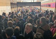 Massive crowd at Porter Square when the Fitchburg Line died