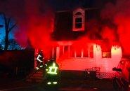 House on fire on Perham Street, West Roxbury