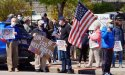 Protesting a condo building in West Roxbury
