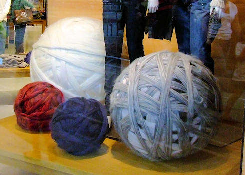 Giant yarn balls or something